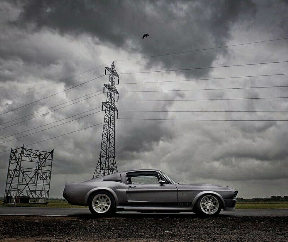 monochrome Eleanor Mustang