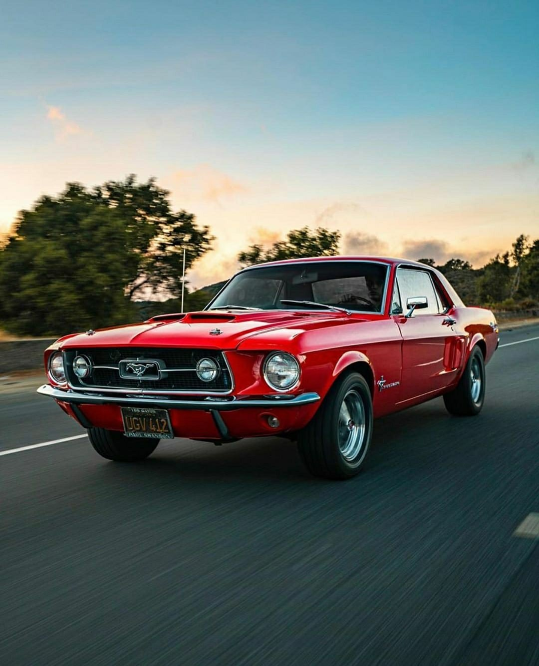 Red 1968 Mustang