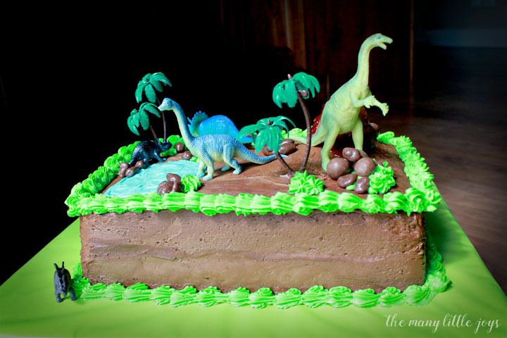 Magnificent How To Make A Dinosaur Birthday Cake The Many Little Joys Funny Birthday Cards Online Inifodamsfinfo