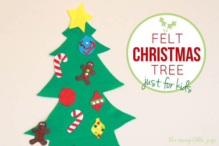 image relating to Printable Christmas Tree identified as Felt Xmas tree for little ones (with printable templates