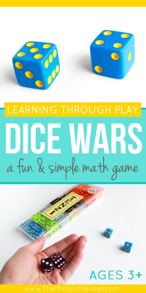 Dice Wars: A simple & fun math game for kids - The Many Little Joys