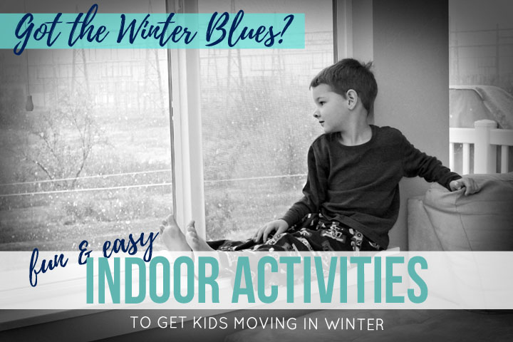 Got the winter blues? During the snowy winter months, it's hard to get the family outside riding bikes and running around the playground. To help, here are eight indoor games for kids that will keep them moving, even in winter.