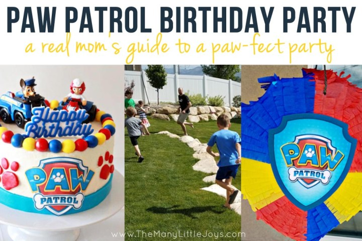 """If you have a child under five, you're probably all too familiar with Paw Patrol. Here is your complete guide to planning a paw""""-fect kids' Paw Patrol birthday party, ideal for real moms who don't want to spend a fortune to throw a great bash!"""