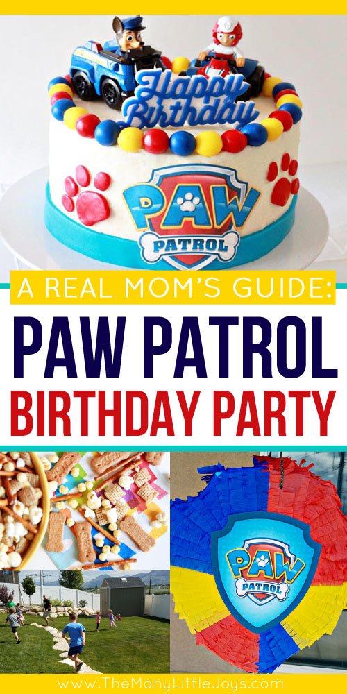 "If you have a child under five, you're probably all too familiar with Paw Patrol. Here is your complete guide to planning a paw""-fect kids' Paw Patrol birthday party, ideal for real moms who don't want to spend a fortune to throw a great bash!"