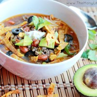 Easy taco soup (Instant Pot + slow cooker directions)