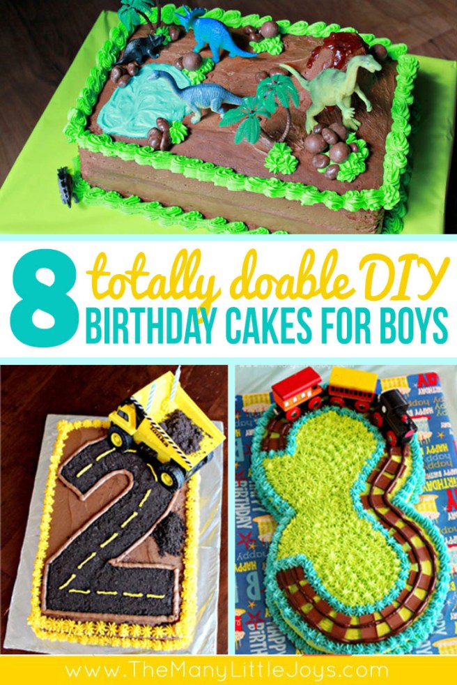 Sensational 8 Fantastic Diy Birthday Cakes For Boys The Many Little Joys Funny Birthday Cards Online Elaedamsfinfo