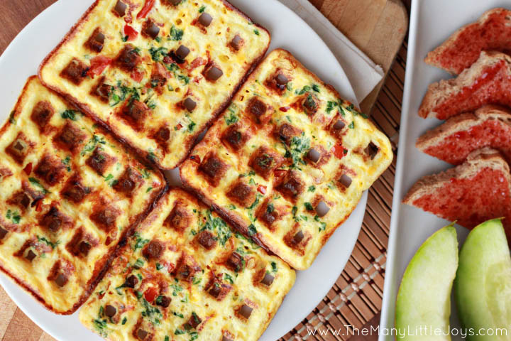 Busy school mornings require quick and hearty breakfasts. These protein-packed omelette waffles are so easy to make, and they will give your kids the fuel they need for a great day of learning.