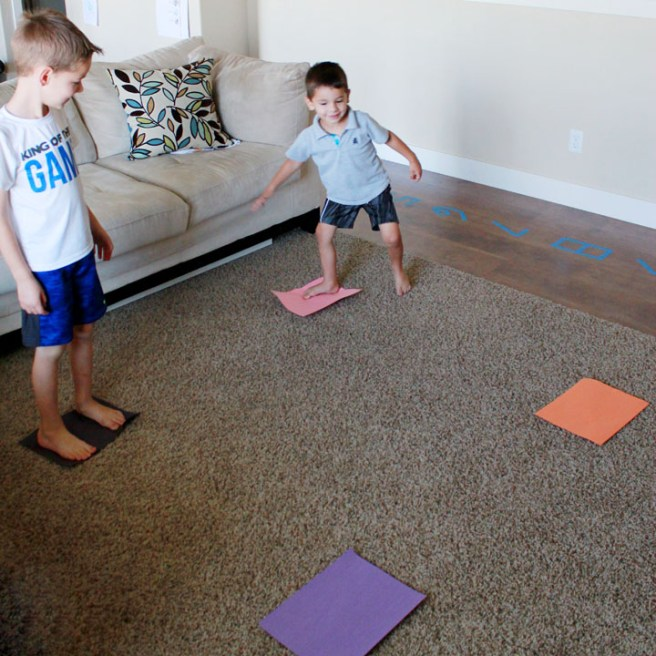 This perfectly simple preschool game about colors requires no prep, gets kids moving, and helps them practice colors and counting skills.