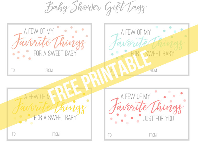 photograph about Baby Shower Gift Tag Printable called A hassle-free kid shower reward great for any mother-towards-be (with