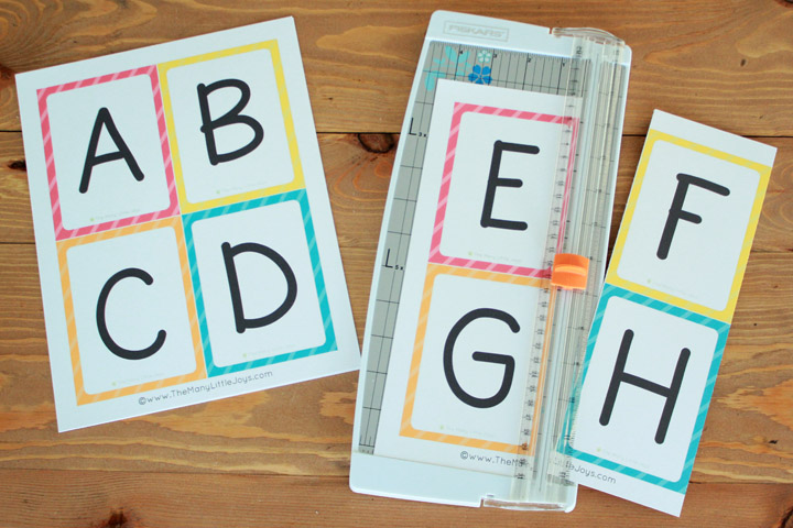 image relating to How to Make Printable Flashcards referred to as Free of charge Printable Alphabet Flashcards (higher and lowercase