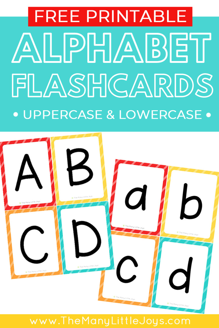 photo about Letter Flashcards Printable identified as Free of charge Printable Alphabet Flashcards (higher and lowercase
