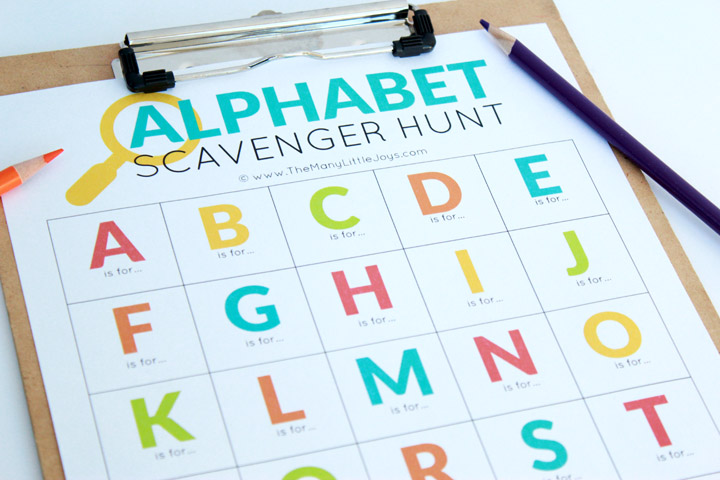 picture regarding Free Printable Scavenger Hunt named Museum Alphabet Scavenger Hunt - The Quite a few Tiny Joys