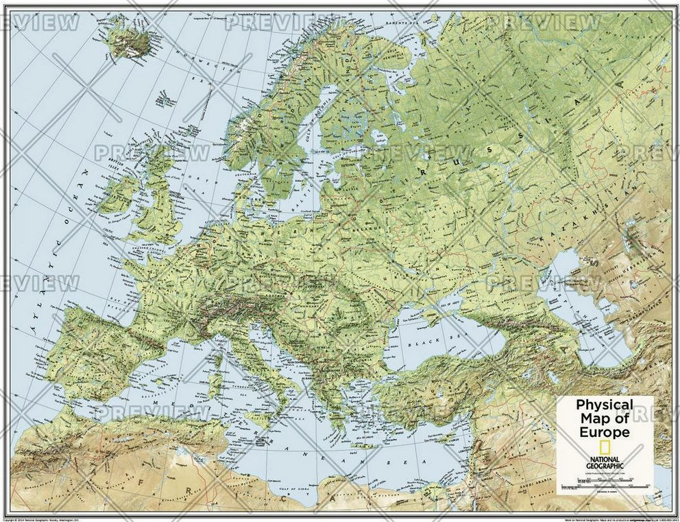 Europe Physical   Atlas of the World 10th Edition by National Geographic
