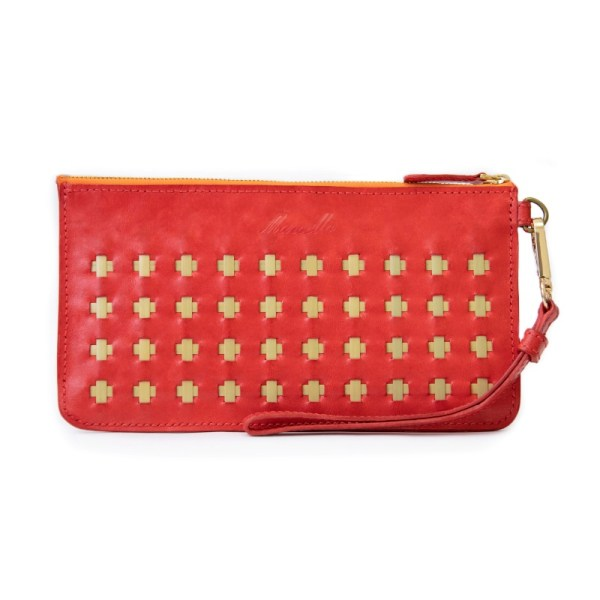 ruby red clutch