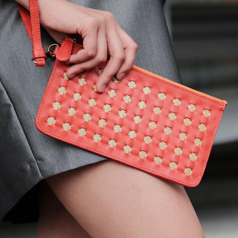 ruby red clutch model