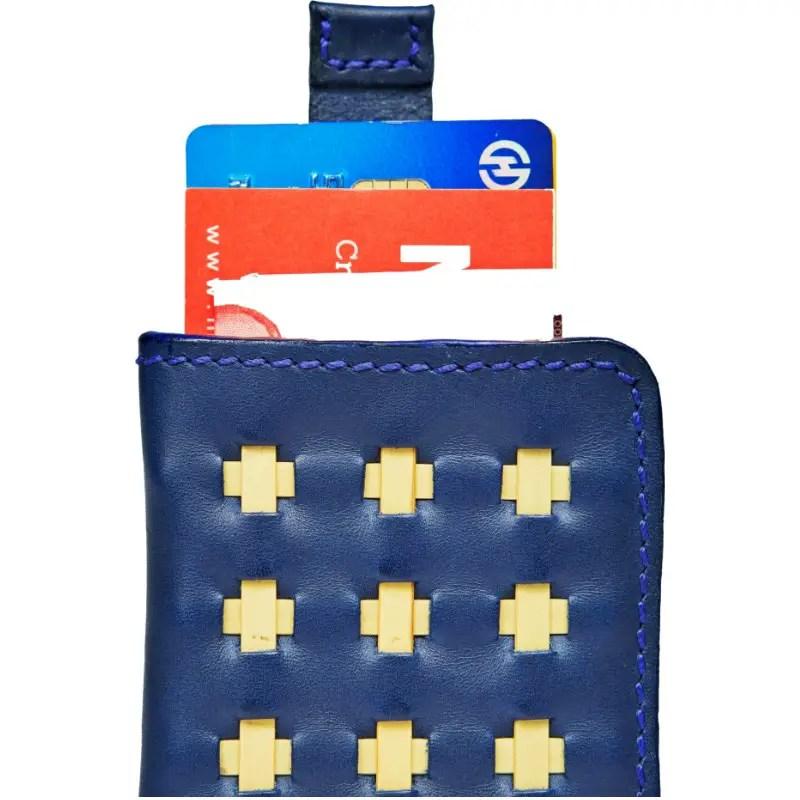 wallet marine blue open up