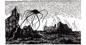 Edward Gorey's Vintage Illustrations for H. G. Wells's <em>The War of the Worlds</em>