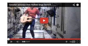 """Astronaut Chris Hadfield Covers Bowie's """"Space Oddity"""" in Space"""
