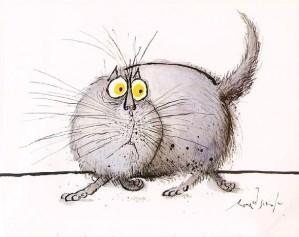 The Original Cartoon Canon of Lolcats: Legendary British Artist Ronald Searle's 1960s Cat Drawings