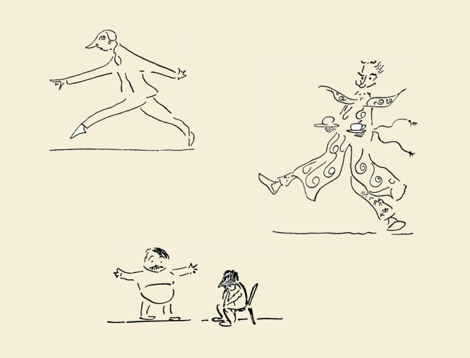 Illustrations from the original edition of Wells's Boon