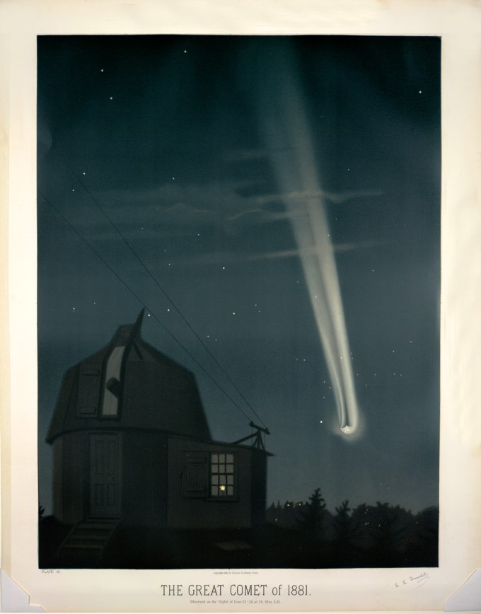 The great comet of 1881, observed on June 26, 1:30 A.M.