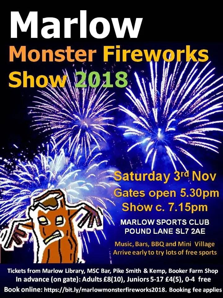 Marlow Monster Fireworks Show