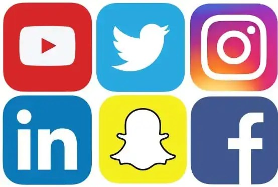 Social media services : You Tube, Twitter. Instagram, LinkedIn, SnapChat, Facebook