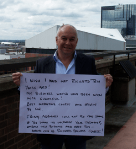 Testimonial from Gary James after finding out about the marketing mix