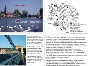 map to find The Market Researchers market research agency in Marlow Bucks