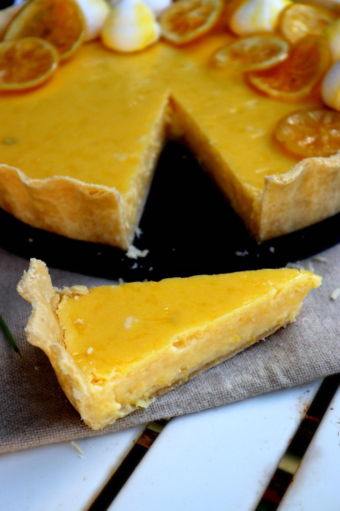 lemon tart slice