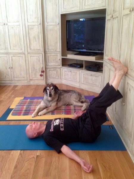 anti-gravity pose