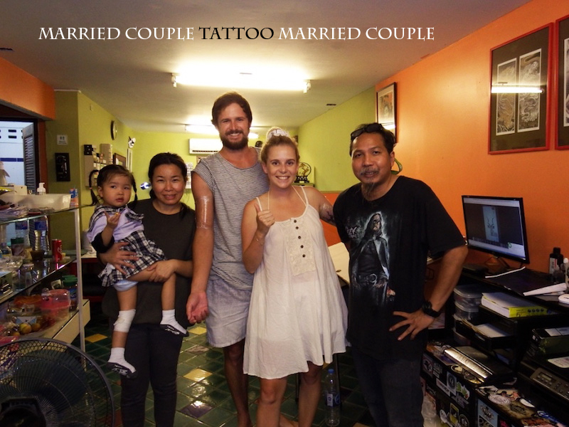 Getting a Couple Tattoo in Chiang Mai