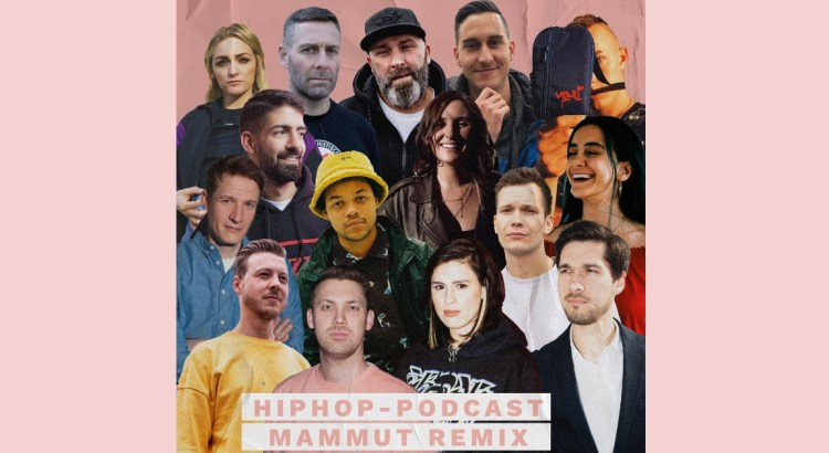 Podcaster im HipHop-Podcast-Mammut-Remix-Collage
