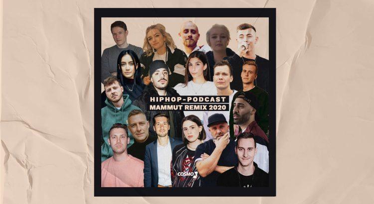 Alle Podcaster*innen des HipHop-Podcast Mammut Remix 2020 auf einem Bild.