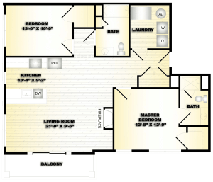 2 Bed / 2 Bath / 1,032 sq ft / Deposit: $750 / Availability: Please Call