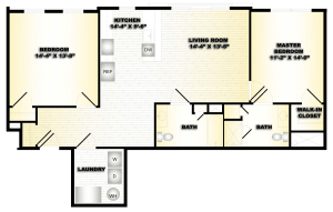 2 Bed / 2 Bath / 1,062 sq ft / Deposit: $750 / Availability: Please Call