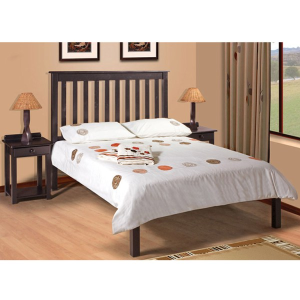 Charlene Low-Foot Bed (Mahogany) - Single Bed