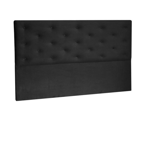 Lourini Punch Headboard (Black) - Double