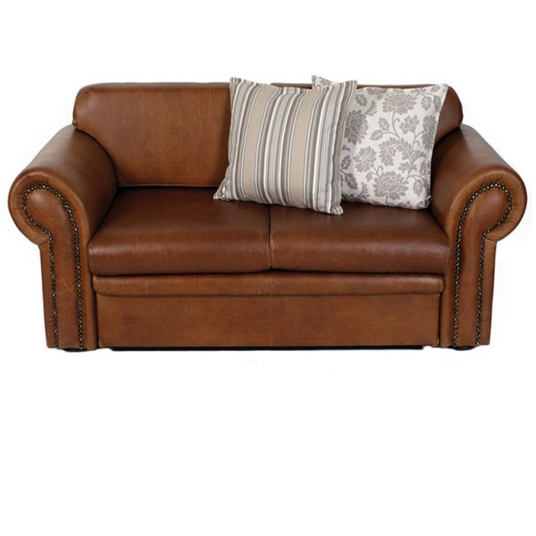 Vintage Leather Sleeper Couch - Double