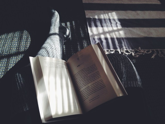 Reading a book before bed can calm your mind.