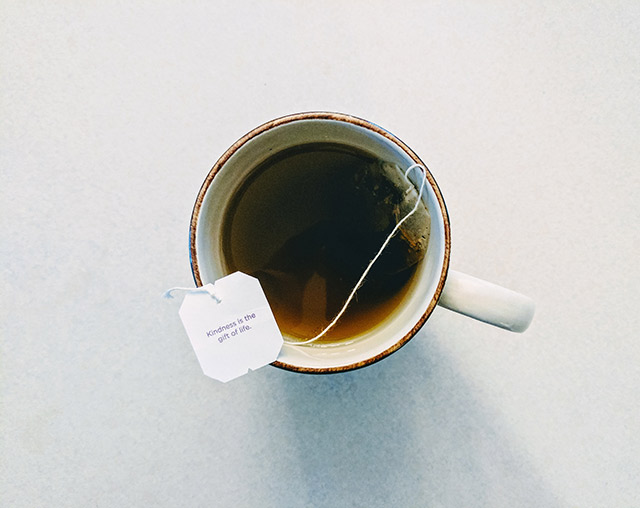 Teabag in a cup