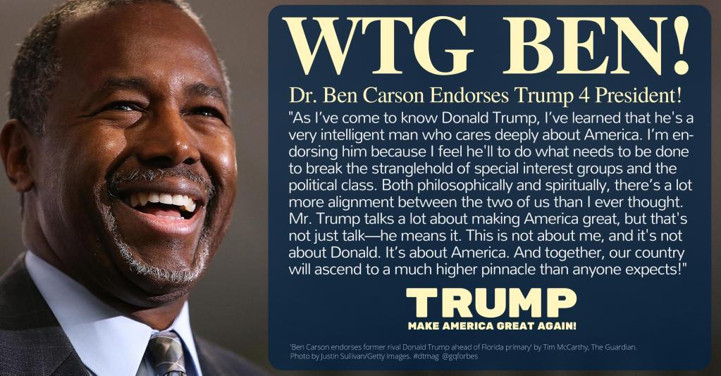 Ben Carson Endorses Trump