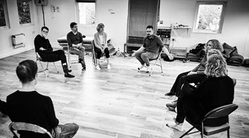 An improvisation class being taught