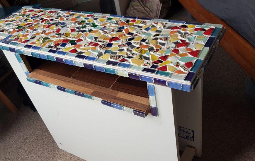 A mosaic table