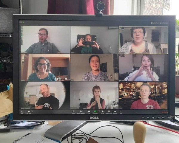 a zoom meeting for improv