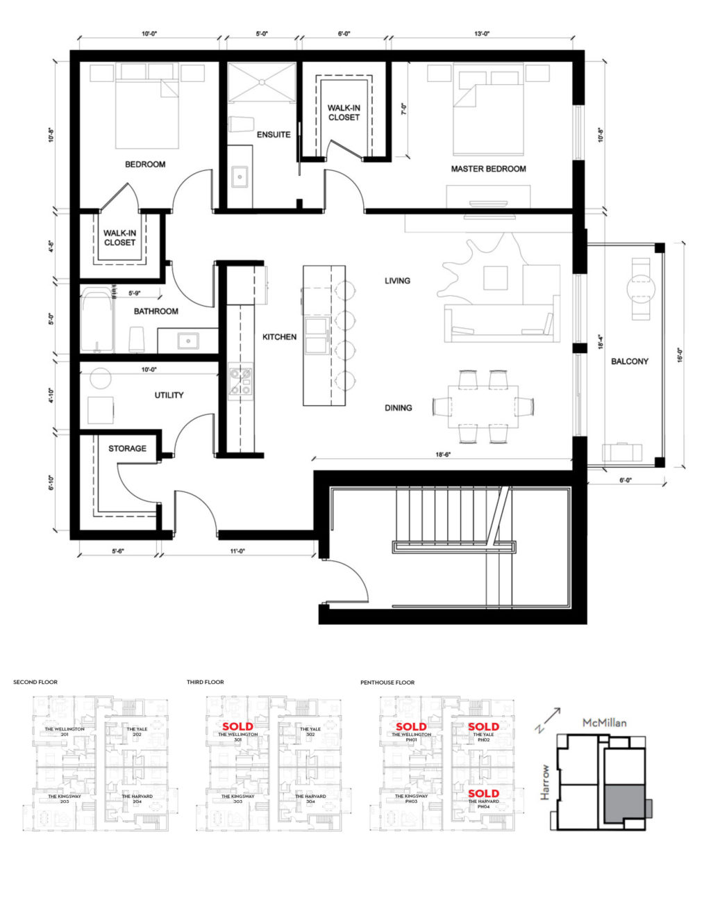Harvard Suite Floor Plan