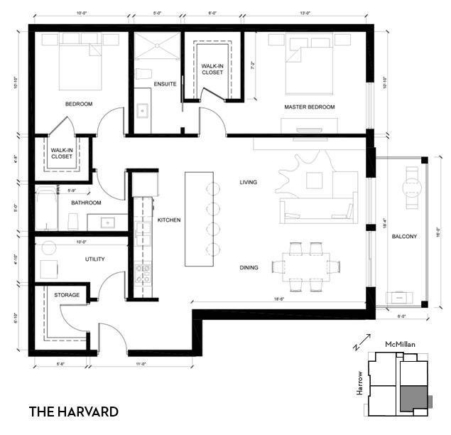 2D harvard floorplan