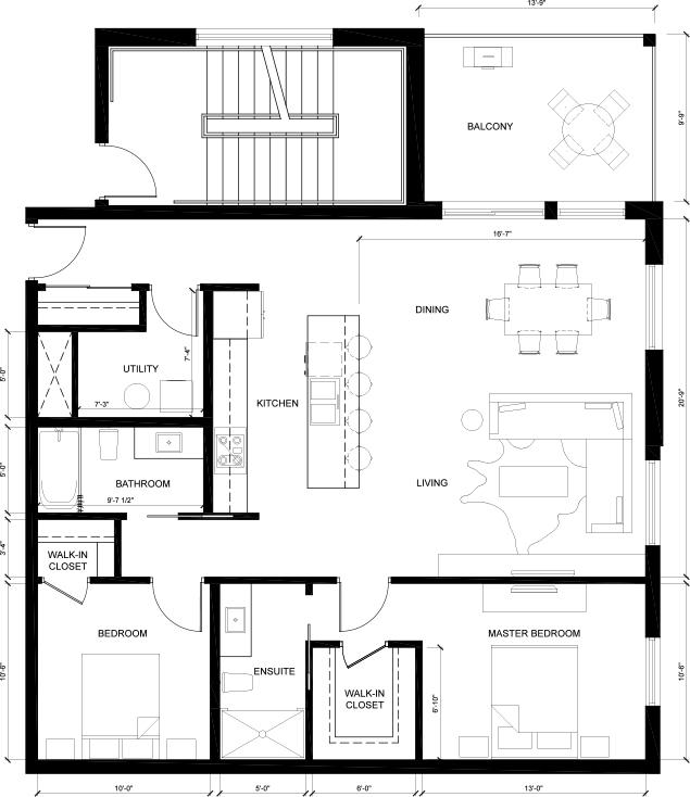 MCM Suite C - Yale Floorplan