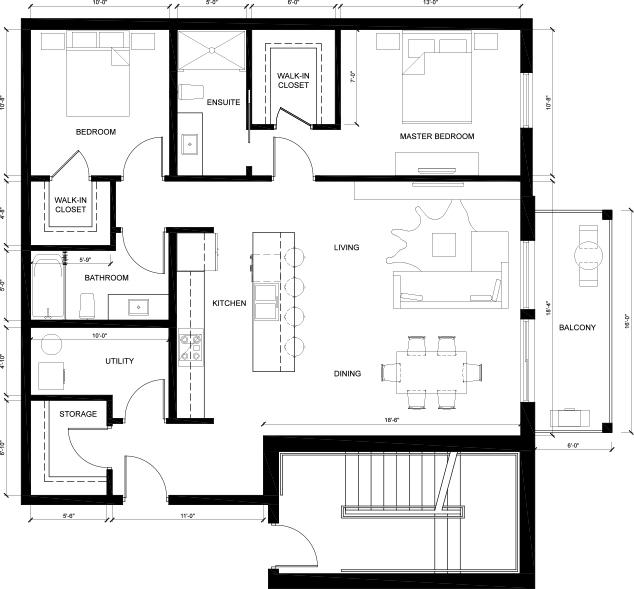 MCM Suite D - Harvard Floorplan