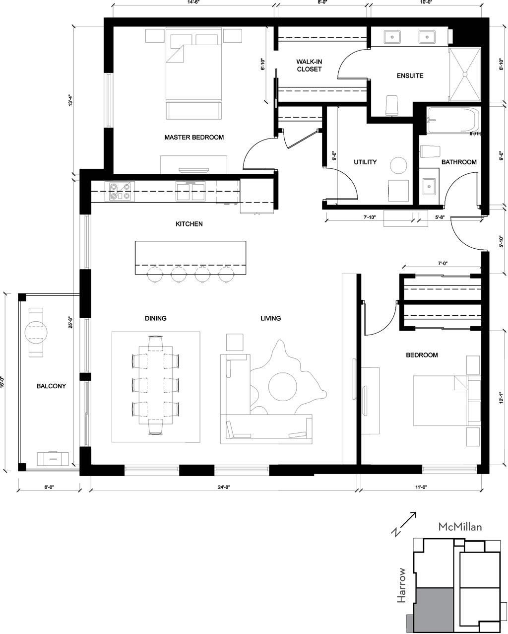 The Kingsway suite - 2d floorplan